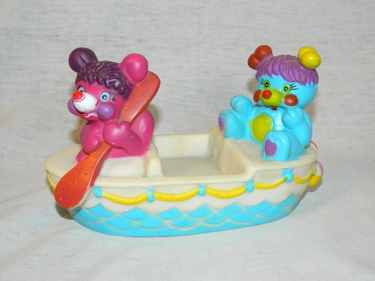 VTG POPPLES boat Soap Dish Floating 1986 Bath Toy PC & Party RARE collectable #TCFC