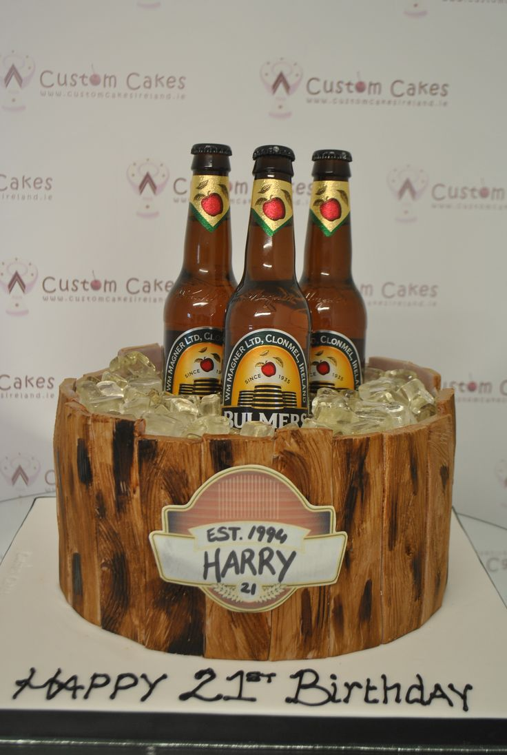 Bulmer's themed 21st Cake