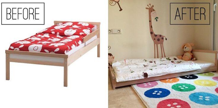 Da quando ho scritto il post sulla cameretta montessori di Oliver tutta Ikea, molti di voi mi chiedono del letto. Preparatevi per una gita…