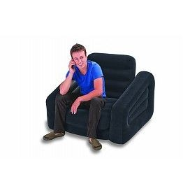 Chair Inflatable Pull-Out Comfortable Grey - Bean Bags & Inflatables