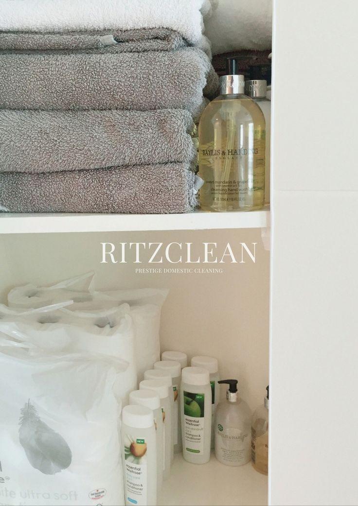 Airbnb Cleaning London. Organised bathroom essentials