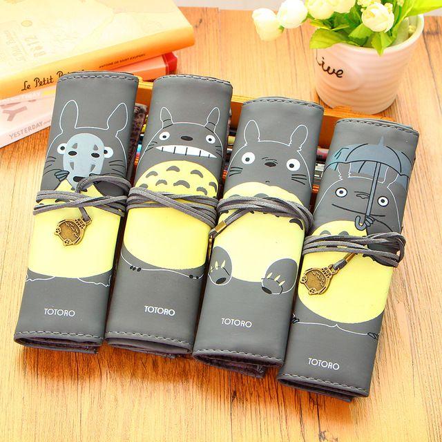 Creativos de La Novedad de Mi Vecino Totoro Rodante Simple Vendaje Vendimia Caja de Lápiz de La Pluma Caso Bolsa de Almacenamiento De Maquillaje Cosmético