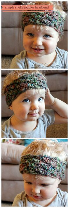 Simple Shells Toddler Headband - Free Crochet Pattern