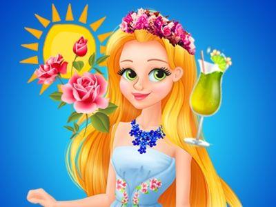Jardim Rapunzel: Rapunzel quer convidar todos os seus amigos para descobrir seu jardim secreto que ela tem trabalhado tanto. Então, ela decidiu organizar uma festa no jardim para este evento. Ajude-a se preparar para evento!