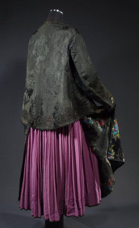 Antique Folk Costume from Poland Ethnic Pleated Dress Apron Blouse Shawl Fabric   eBay