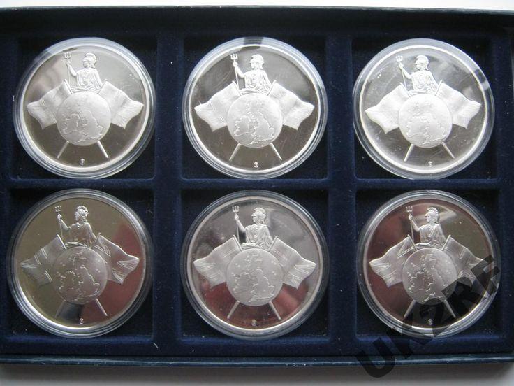 Великобритания медали банкноты 5 10 20 и 50 фунтов