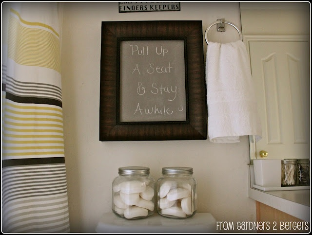DIY chalkboard paint with plaster of paris.: Crafts Ideas, Chalkboards Paintings Recipes, Bathroom Wall, Projects Diy, Humor Signs, Chalk Paintings, Bathroom Humor, Diy Chalkboards, Chalkboards Projects