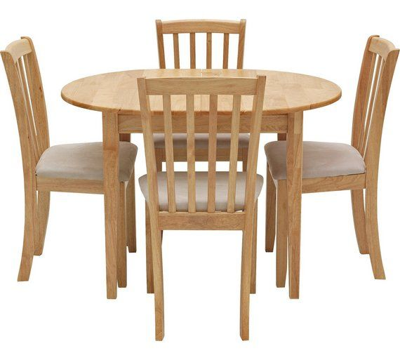 Buy Collection Banbury Ext Solid Wood Dining Table & 4 Chairs at Argos.co.uk, visit Argos.co.uk to shop online for Dining sets, Dining room furniture, Home and garden