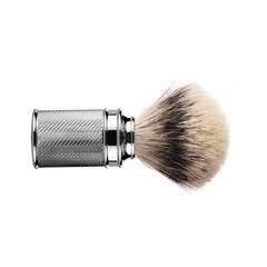 Muehle Shave Brush, Made in Germany, $119 - stainless steel brush?
