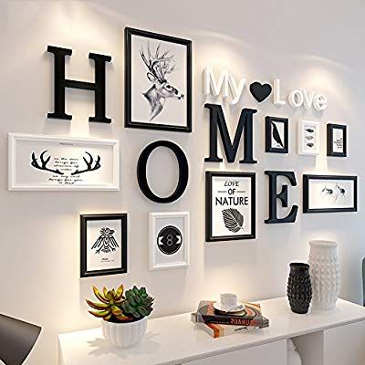 Photo Frame Home Solid Wood Alphabet