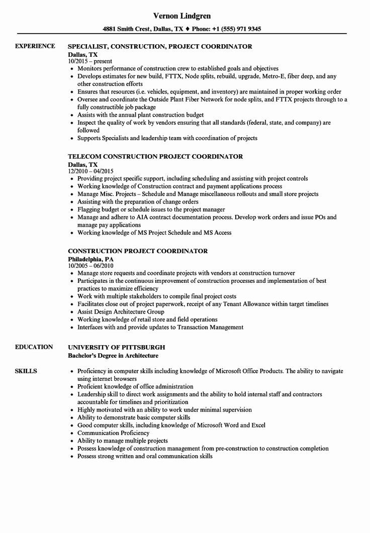 Entry Level Construction Resume Best Of Construction