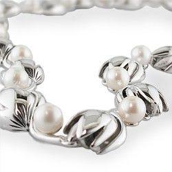 Sterling #Silver #Pikake (#Jasmine) #Necklace with Freshwater #Pearls.  www.nahoku.com #Hawaiian and Island Lifestyle #Jewelry