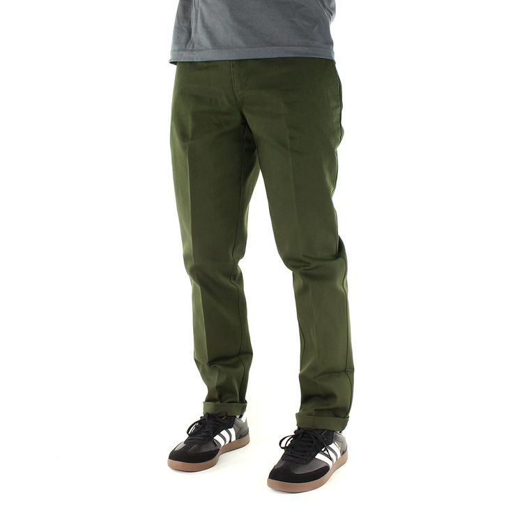 Buy the Dickies 872 Slim Fit Work Pant - Olive Green on other Dickies clothing, with Fast and Free UK Shipping from SuperEight.Net