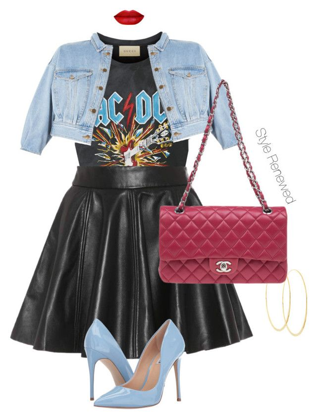 """""""Street Style"""" by sherristylz on Polyvore featuring Gucci, Topshop, Ganni, Steve Madden, Lana and Chanel"""