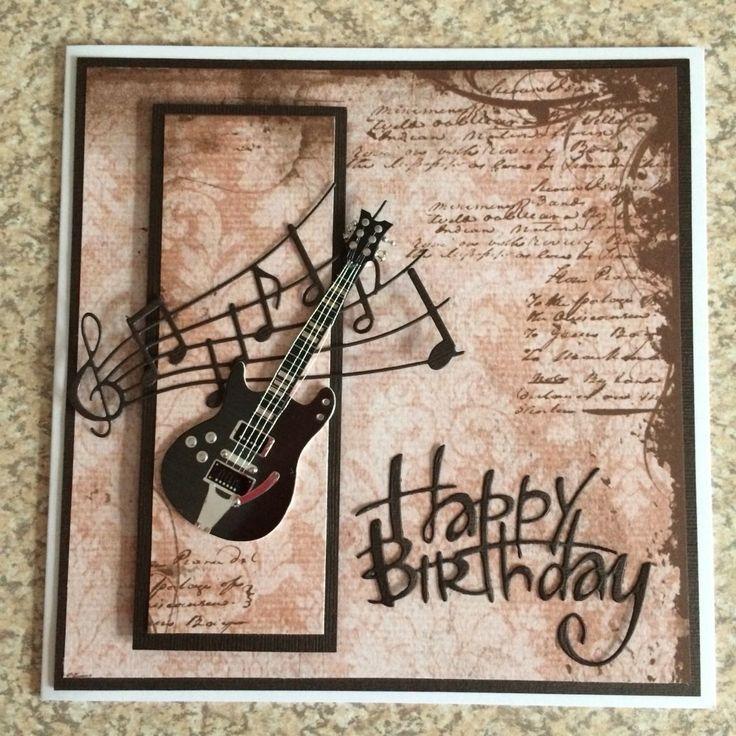 Открытки день рождения с гитарой, картинки