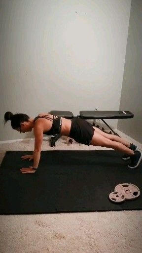 No equipment arms and abs workout for women
