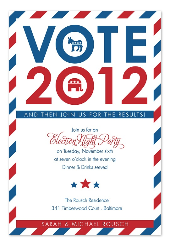 Big Vote - Political Party Invitations by Invitation Consultants. (Item # IC-RLP-1112 )