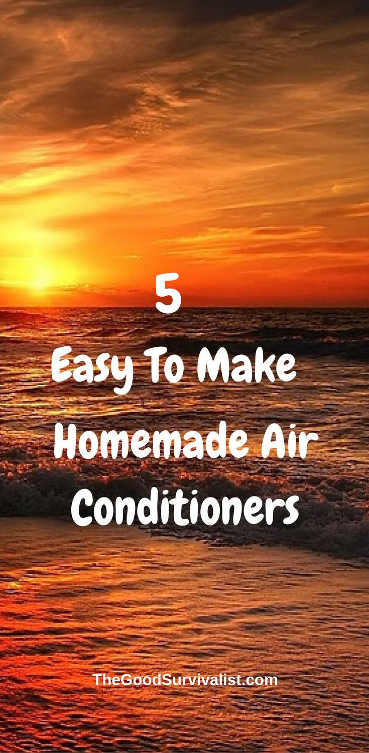 There are all kinds of DIY air conditioners you can make at home. Some are easier to make than others, but they all work quite well. The 5 we came up with will keep you cool, and they only cost a few cents per day to run. Most of them can be made for $15 or less. http://www.thegoodsurvivalist.com/5-easy-to-make-homemade-air-conditioners-that-will-save-you-200-per-month-on-your-ac-bill-and-keep-you-frosty-cool-all-summer/