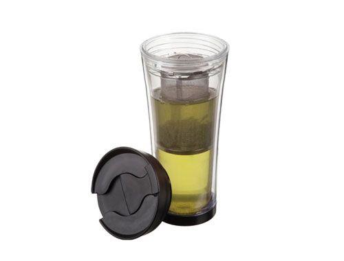 Vaso portátil para Te y otras infusiones con filtro. Mantiene la temperatura por…