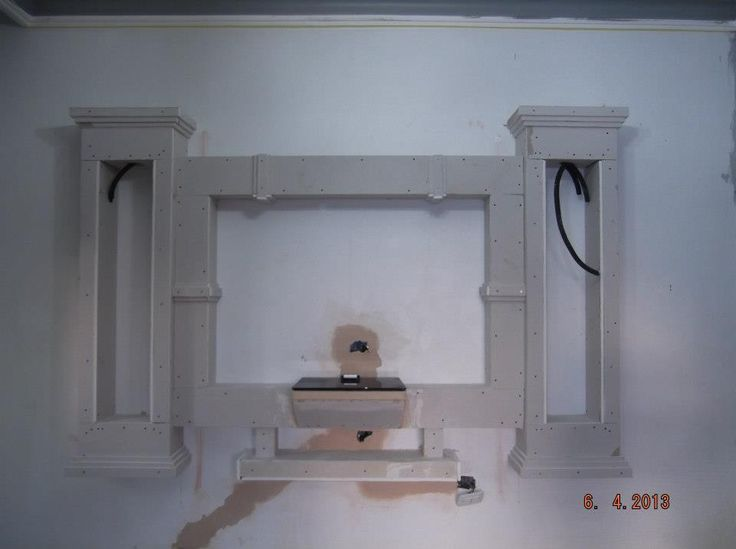 Handmade Gypsum Board Tv Units Before And After