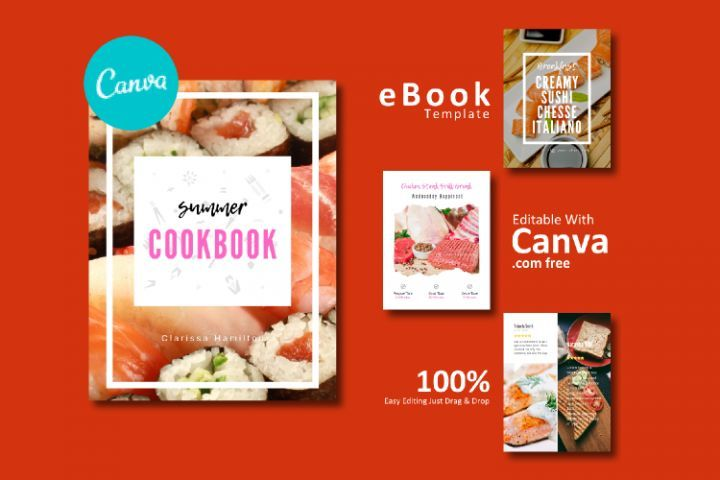 Recipe Ebook Template Easy Editable Using Canva Free 296674 Brochures Design Bundles Ebook Template Cookbook Template Ebook Design