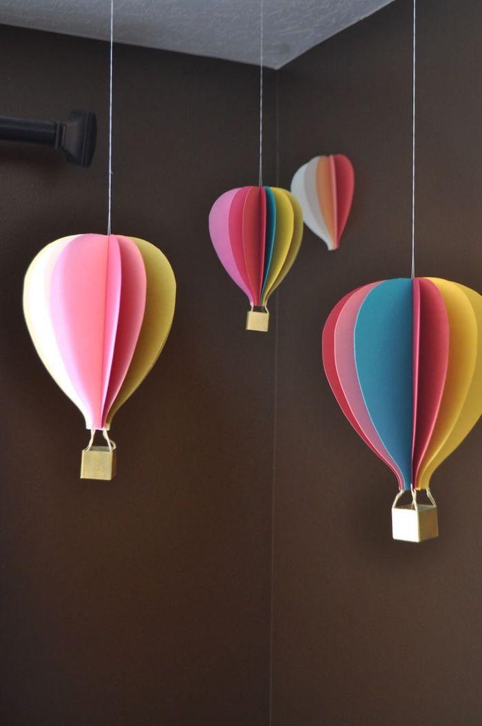 ▷ 1001 + kreative Ideen, wie Sie einen Heißluftballon basteln – Werken 4a