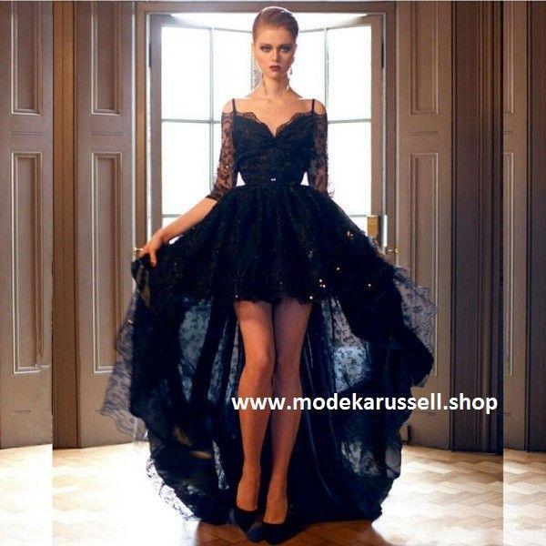 Abendkleid Sorka in Schwarz Vorne Kurz Hinten Lang