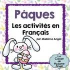 Joyeuse Pâques!  Easter is coming and what better way to celebrate than with this fun set of literacy activities!  This package includes 18 word wa...