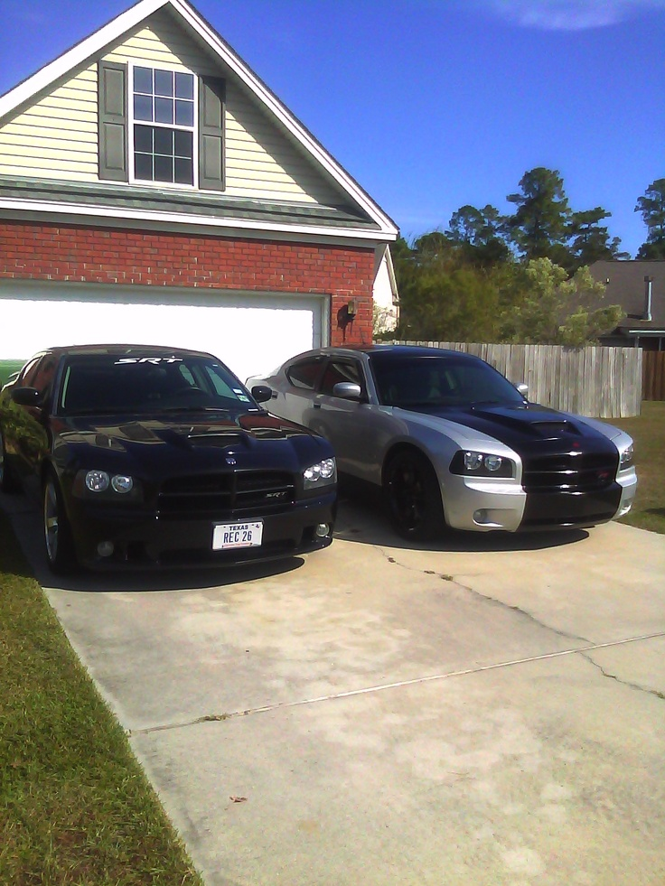 Friend's 2008 Dodge Charger R/T and my 2006 Dodge Charger SRT8