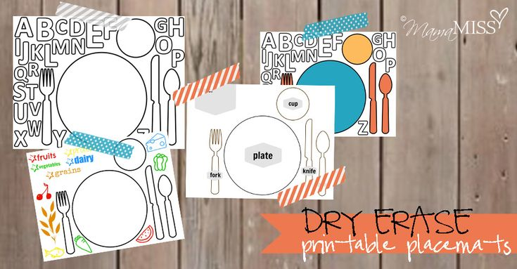 Dry Erase Printable Placemats - Mama Miss