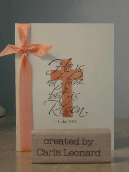 quick and easy Easter card by carla36301 - Cards and Paper Crafts at Splitcoaststampers