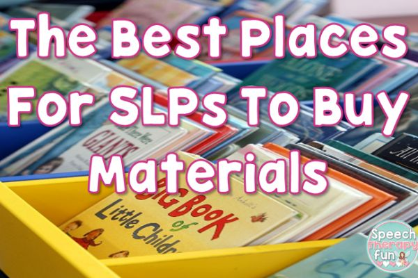 The best places to buy speech therapy materials for cheap!