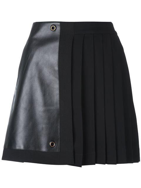 Versace плиссированная мини-юбка
