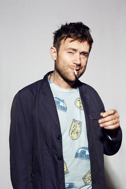 Damon Albarn wearing a Star Wars t-shirt. Life is perfect.