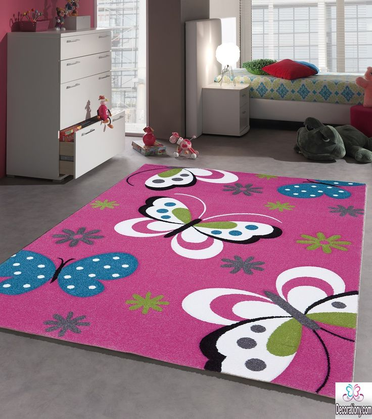 Area rugs for kids 30 adorable area rugs for girls bedroom for Carpet for kids bedroom