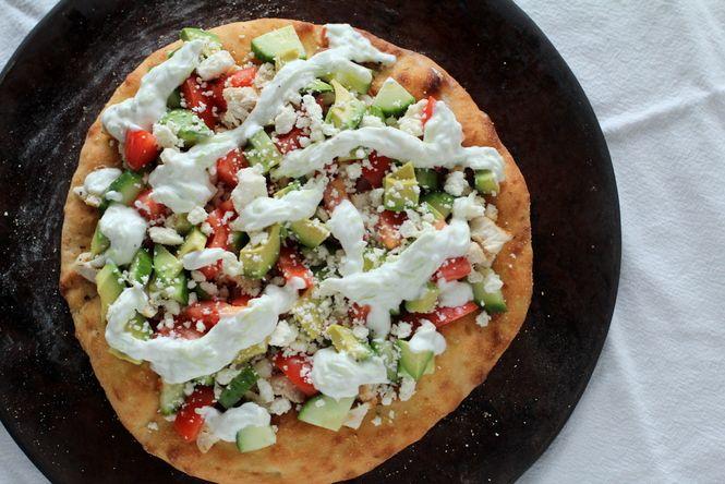 Greek Pizza - healthy, homemade