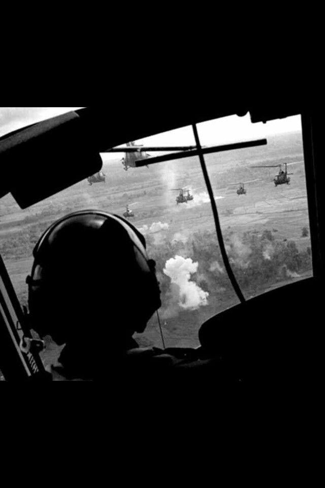 Vietnam Huey pilots view; into the breach