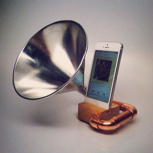 DIY iPod /iphone speaker. Paint with metallic paint for different effect.