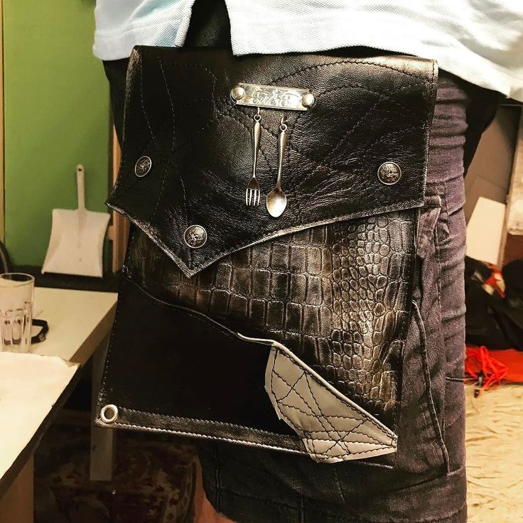 Masterchef DarkoKlemen/custom made leather hands free detachable utility bag by EvilEve. #leatherbag #leather #evilevedesign #evileve #masterchef