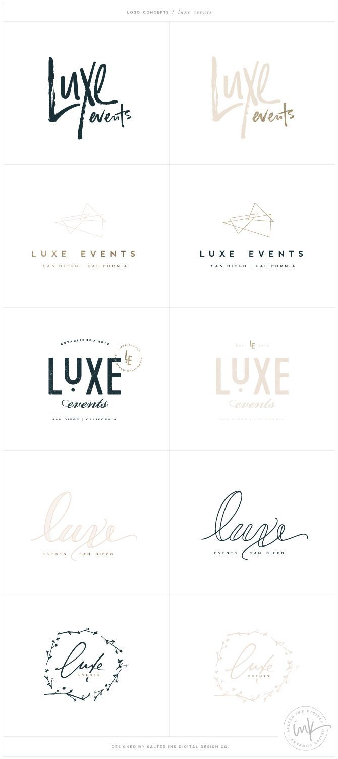 Brand Launch: Luxe Events - Salted Ink Design Co.