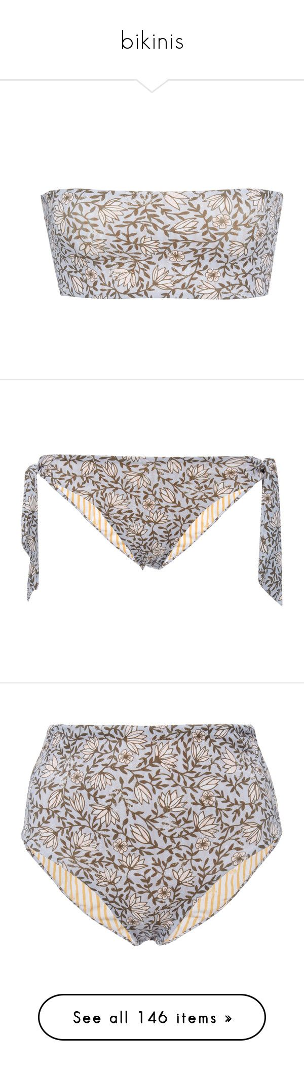 """bikinis"" by soniamoreira ❤ liked on Polyvore featuring swimwear, bikinis, bikini tops, floral, floral strapless bikini, strapless bikini, floral two piece, floral bandeau bikini top, bandeau top bikini and bikini bottoms"