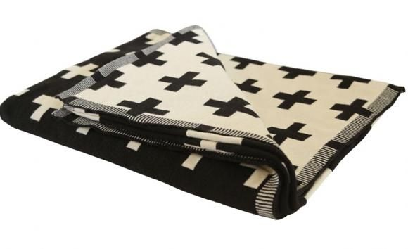 Culgoa Cotton Knitted Throw Black By Waverly