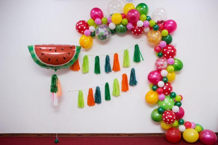 По заказу клиента. Фруктовая вечеринка ШАРЫ воздушные шары