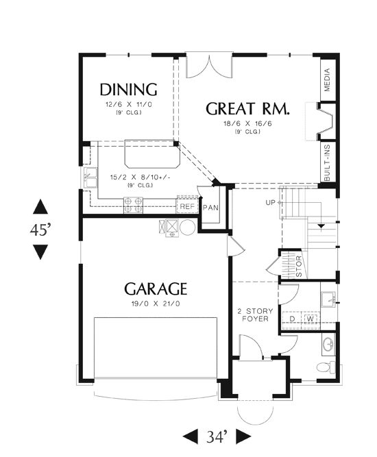 14 best Floor plans for narrow lots images on Pinterest Floor