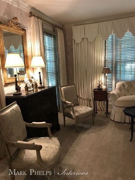 Mark Phelps Interiors Charlotte NC Bedroom Antiques Sitting Room