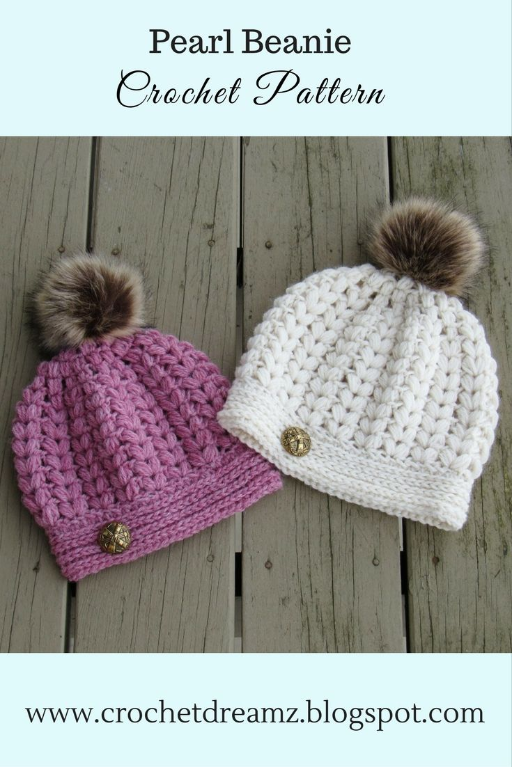 Best 25 crochet toddler hat ideas on pinterest baby beanie pearl beanie puff stitch crochet hat pattern bankloansurffo Gallery