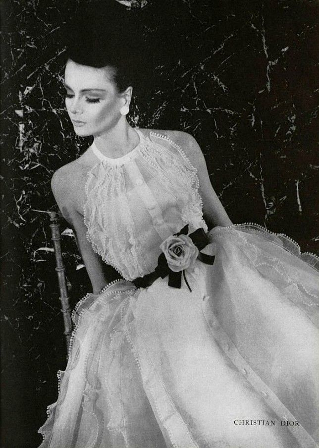 Vintage Christian Dior, (1963)-- This is a dress that ANY girl would/should dream of after watching a princess movie.