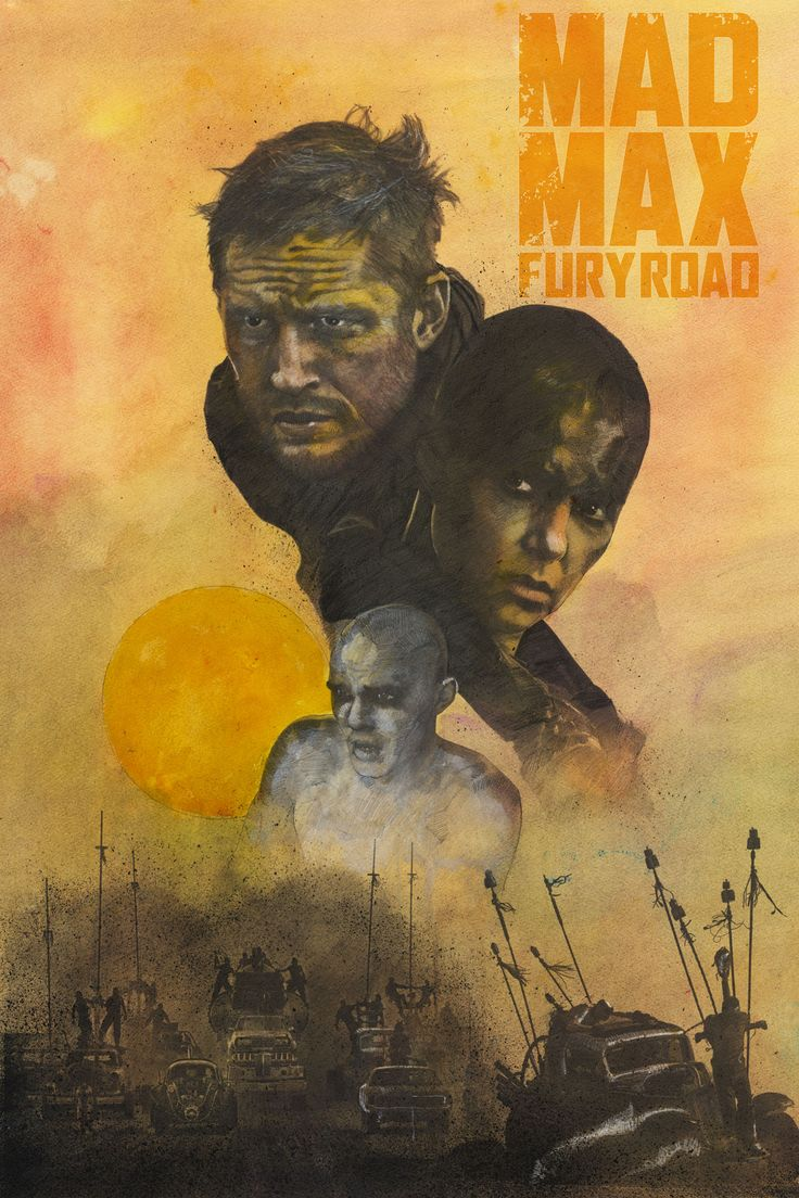 Mad Max Fury Road poster paying homage to Richard Amsel's 1985 Beyond Thunderdome poster.