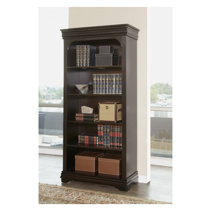 Martin Home Furnishings Furniture Beaumont Open Bookcase - 36 in. - Add stylish functionality to your workspace with the Martin Furniture Beaumont Open Bookcase - 36 in. . Made of hardwood and veneers, this open-face...