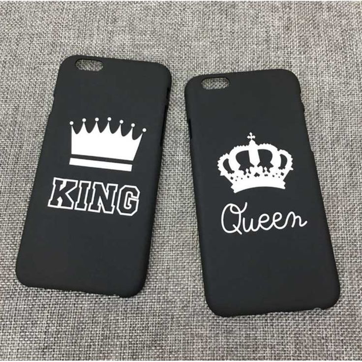 Phone Cases KING & QUEEN couple  Cover Cases For iPhone 5 5S SE 6 6S 6Plus 7 7Plus Prince & Princess Couple hard Cas Capa Case